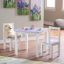 lipper childrens table and chair set lipper kids small lilac and white table and chair set hayneedle
