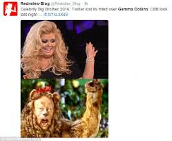 Gemma Collins Memes - bb star gemma collins s big hair causes a social media frenzy