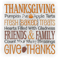 thanksgiving pumpkin pie friends and family give thanks