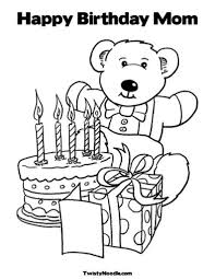 birthday coloring sheets happy birthday coloring pages for mom az in throughout snap cara org