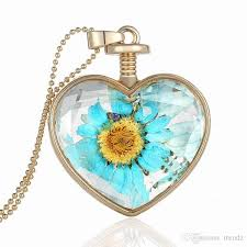 crystal heart necklace wholesale images Wholesale luxury gold plated love heart necklace inlaid floating jpg