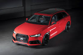 audi wagon abt u0027s red audi rs6 is an insane wagon with 695hp