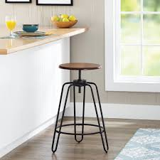 swivel breakfast bar stools mainstays adjustable height swivel barstool hammered bronze