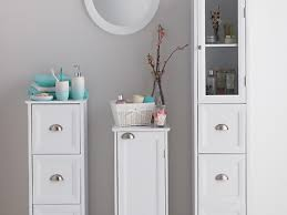 bathroom white bathroom storage cabinet with drawer