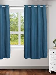 Single Window Curtain by Buy Ariana Blue Single Window Curtain Curtains And Sheers For