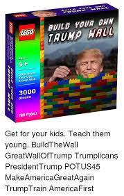 Build Your Own Meme - lego ages 5 lego build your own trump wall 3000 pieces taff project