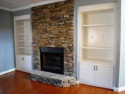 stone fireplace without hearth home design ideas throughout
