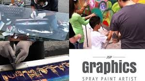 Spray Paint Artist - live spray painting street art performance an arts crowdfunding