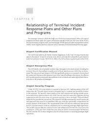 chapter 5 relationship of terminal incident response plans and