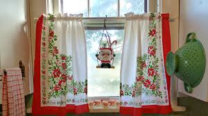 Santa Curtains Old Glory Cottage It U0027s Beginning To Look Alot Like Christmas