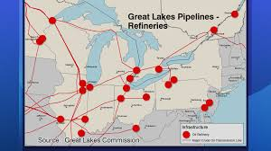 The Great Lakes Map As Risk Of Great Lakes Oil Spill Grows So Do Concerns About