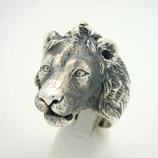 silver animal ring holder images Acrylic lion ring holder images jpg