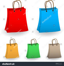 set colored shopping bags stock vector 62719195 shutterstock