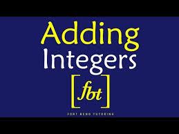 integers by fort bend tutoring fbt nhltv