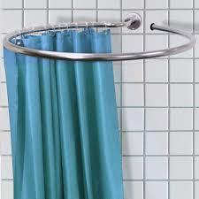 Polished Chrome Shower Curtain Rod Round Corner Shower Curtain Rod Hallway Bathroom Pinterest