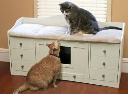 Kitty Litter Bench Sauder Pet Bench Cat Litter Box Cover With Bed And Drawers