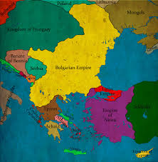 Map Of Bulgaria Bulgaria Under Tsar Empror Ioan Asen Ii Circa 1240 Ad