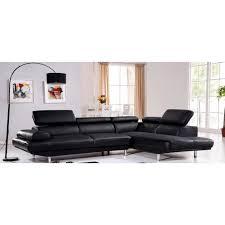 canapé cuir 5 places droit canapé d angle droit en cuir noir hudson achat vente canapé