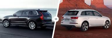 xc90 vs lexus volvo xc90 vs audi q7 run suv showdown carwow