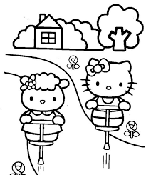 queen hello kitty coloring pages you can print cartoon coloring