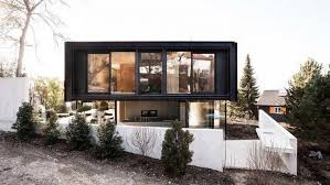 modern house in riehen made by glass concrete wood and metal