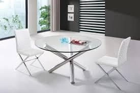 chrome round dining table glass round top crisscross chrome base v frau large modern dining