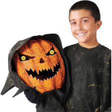 amazon com bobble head pumpkin child u0027s costume large toys u0026 games