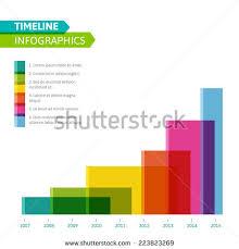 Resume Timeline Template Timeline Infographic Vector Cv Resume Business Stock Vector