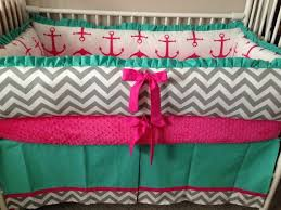 Turquoise And Pink Baby Bedding Best 25 Chevron Baby Bedding Ideas On Pinterest Baby Boy