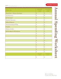 Financial Planning Worksheet How To Budget Annual Spending