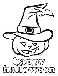 easy halloween coloring pages free easy halloween coloring pages