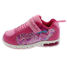 trolls light up shoes trolls poppy girls lighted sneaker shoes 9 m poppy white