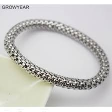bracelet elastic silver images Buy silver color metal stretch bracelet stainless jpg