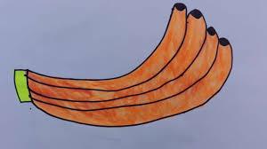 how to draw a banana draw a banana peel draw a banana tree step