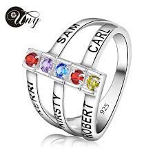 mothers rings pictures images Uny rings personalized mothers ring custom engrave diy birthstone jpg