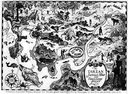 Book Map Erbzine 3043 Tarzan Maps From The Erb Atlas