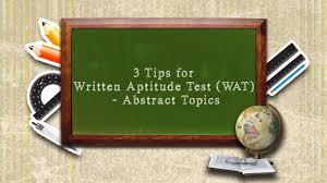 sample essays on abstract topics 3 tips for written aptitude test wat abstract topics youtube 3 tips for written aptitude test wat abstract topics