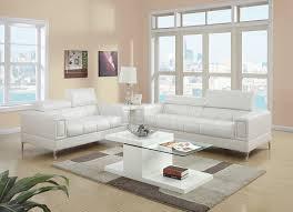 Modern Sofa Set White Amazon Com Poundex Bobkona Sierra Bonded Leather 2 Piece Sofa And