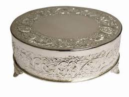wedding cake stands for sale 14 silver embossed metal cake plateau stand riser wedding