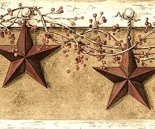 country hanging star wallpaper border country decorating