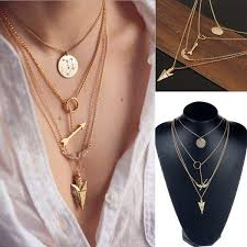 new pendant necklace images Wholesale 2015 new design multiwall set punk gold angel wings jpg