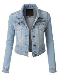 Light Denim Jacket Le3no Womens Denim Jacket With Pocket Le3no