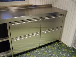 Stainless Kitchen Cabinets Stainless Steel Cabinets Brooks Custom