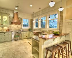 Houzz Kitchen Backsplash Ideas Copper Counters With Gray Backsplash Natalie Disalvo Via Houzz