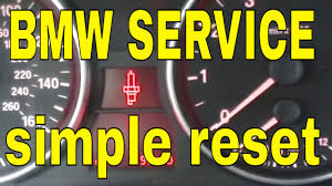bmw 325 330 335 service reset brake pad reset spark plug