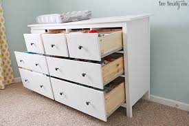 Ikea Hemnes Changing Table Nursery Dresser Organization