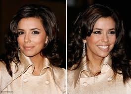 eva longoria long and bouncy center of the back hairstyle with