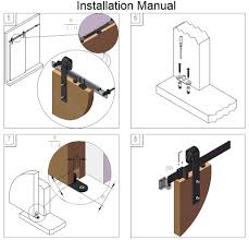 diy barn door track system diyhd 5ft 8ft soft close single door sliding barn door track