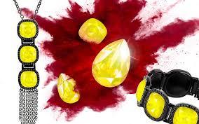 yellow opal color crystal swarovski professional