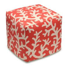 Coral Ottoman Most Popular Style Ottomans And Footstools For 2018 Houzz